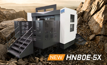 New HN80E-5X 5-Axis Horizontal Machining Center